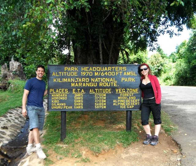 Na base do Kilimanjaro, antes de começar a subida