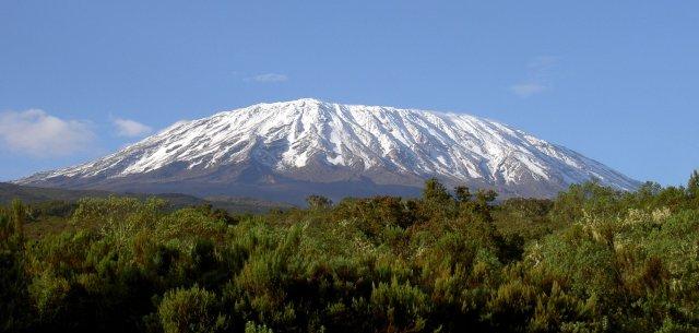O Kilimanjaro visto da base