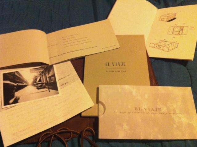 """Kit inicial para comensais do menu degustação """"El Viaje"""""""