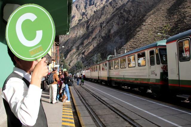 Trem para Águas Calientes, base de Machu Picchu