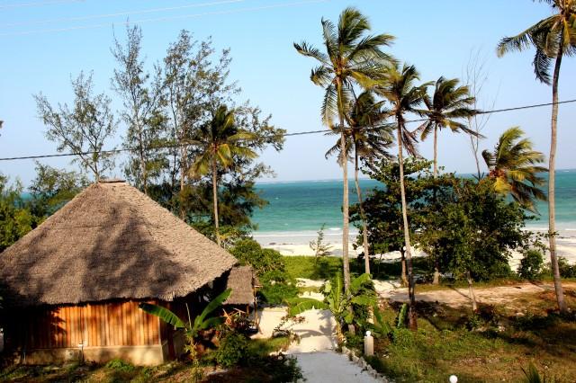 Vista do nosso hotel em Paje