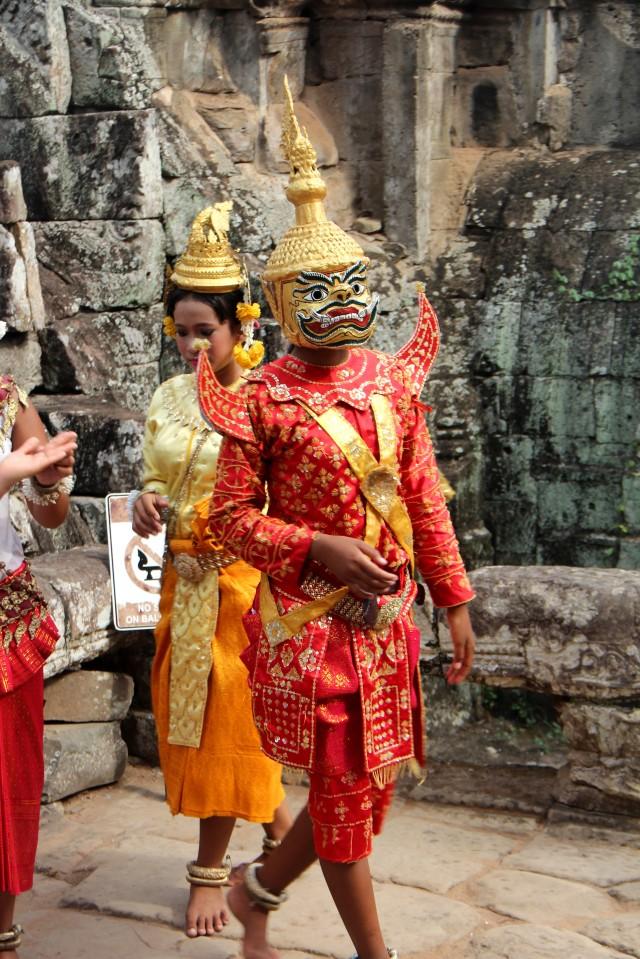 Roupas típicas do passado cambojano