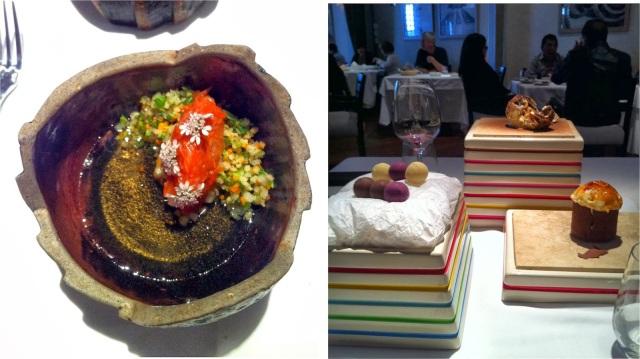 Delicadeza e superba apresentação dos pratos