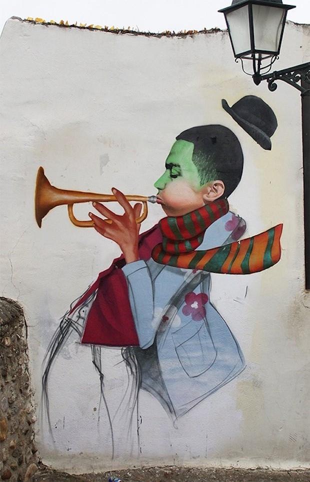 Mural em Granada, artista Cheko