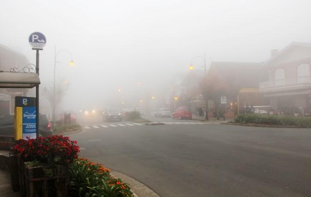 Neblina pesada em Gramado