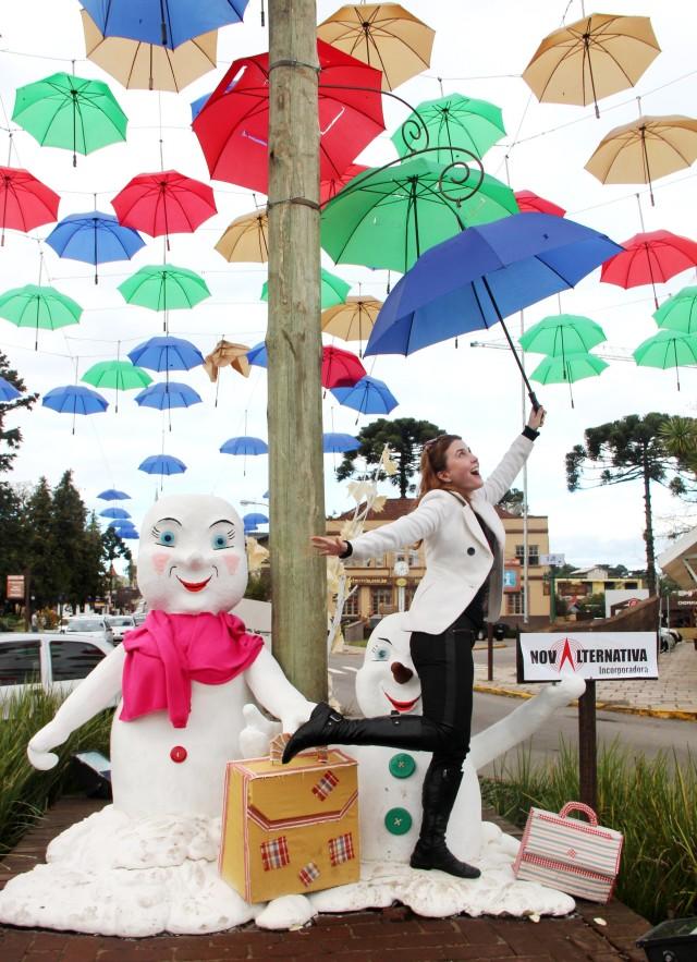 Decoração Guarda-chuvas Canela