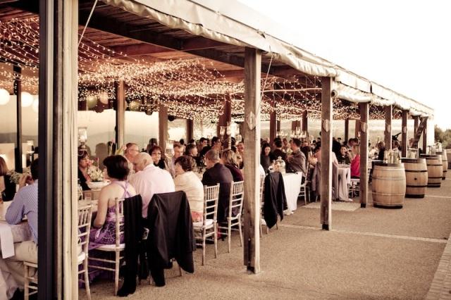 Jantar de casamento na vinícola