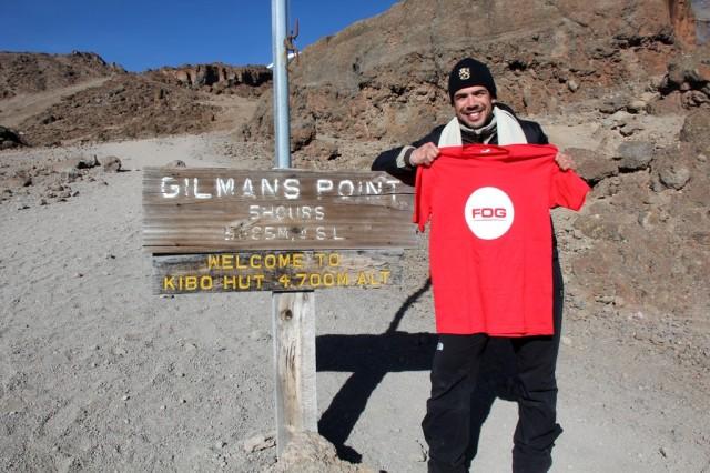 Guico no último acampamento - Kibo (4.700m) Kilimanjaro
