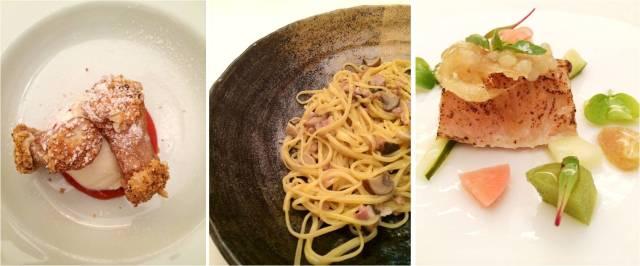 Alguns dos pratos servidos no menu Tradição - Restaurante Soeta