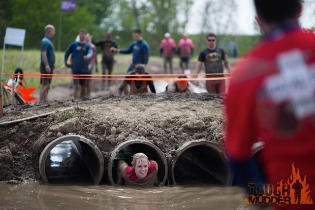 O túnel de lama. Blergh!