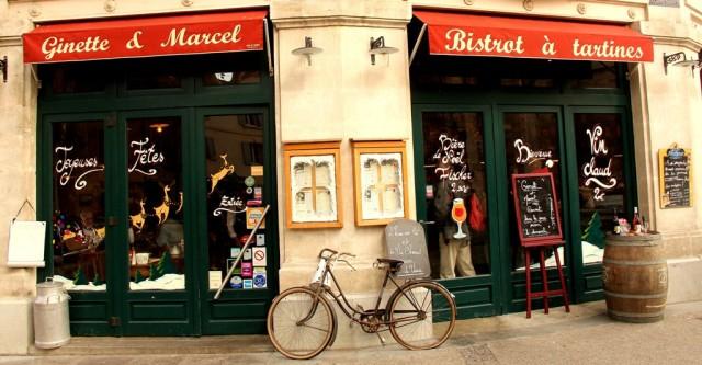 Entrada bistrô Ginette & Marcel