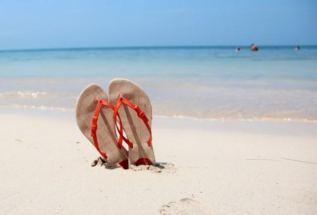 Colocando o chinelo para descançar na Isla del Encanto