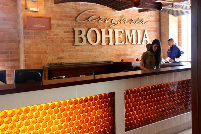 Entrada da Cervejaria Bohemia em Petrópolis