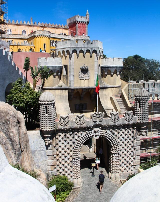 Fachada do Castelo da Pena