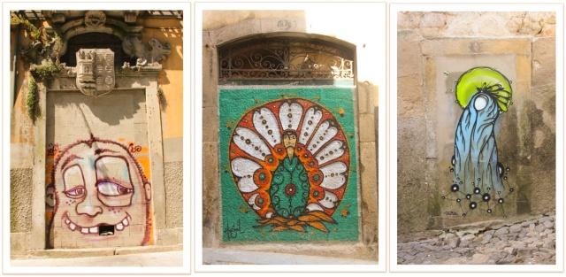 Portas de cimento e muita cor em Porto