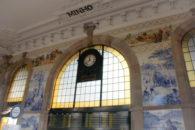 Azulejos na estação de trem São Bento