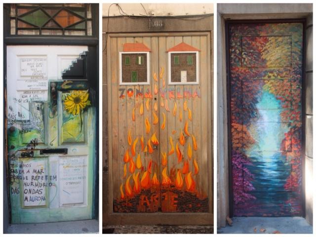 Portas coloridas do centro histórico de Funchal