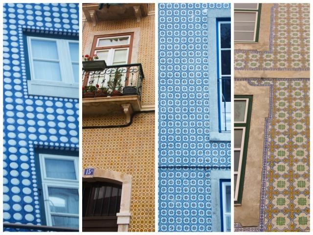 Admirando os azulejos portugueses no walking tour