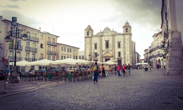 Praça do Giraldo em Évora