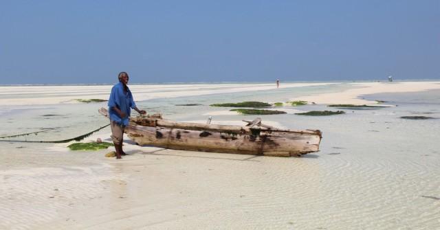 Praia Paje em Zanzibar