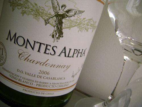 Vinho Montes Alpha Chardonnay.  Foto: Cozinha Travessa