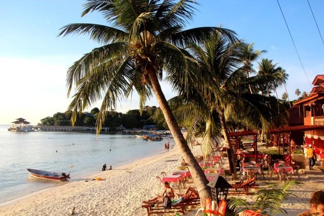 Nossa praia particular nas Ilhas Perhentian, Malásia!