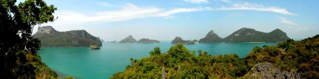 Panorâmica do Parque Marítimo de Ang Thong