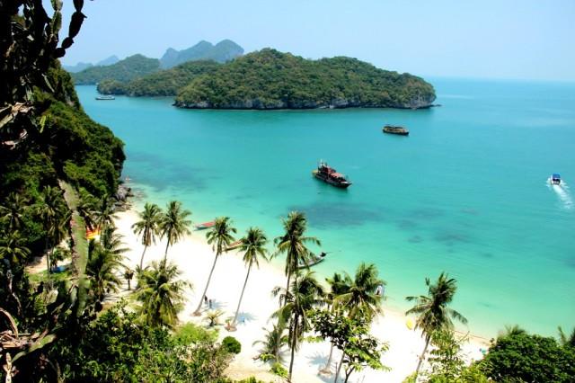 Uma das mais belas vistas praianas da viagem de volta ao mundo!