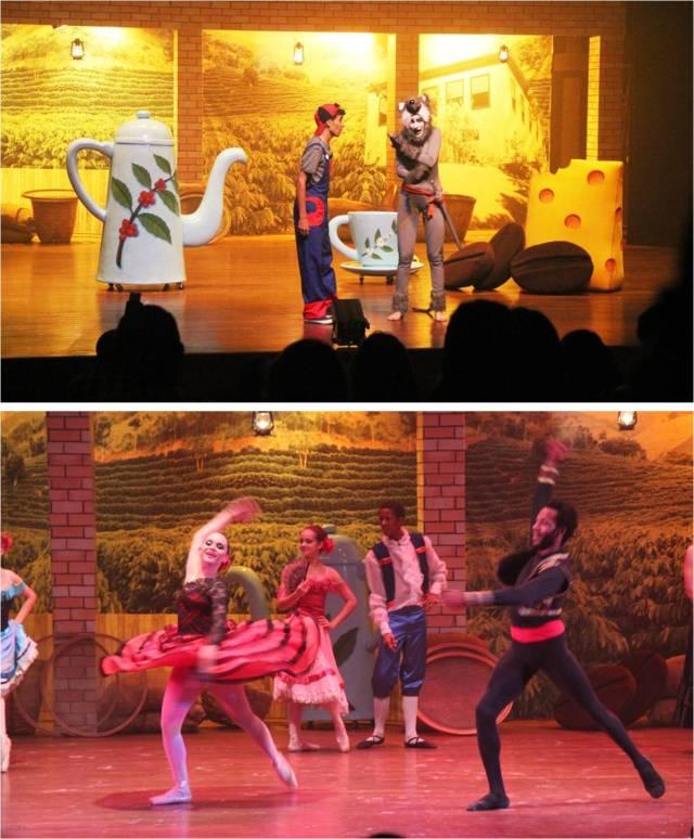 Teatro infantil e balé com temática café no Cine-Teatro de Ibiporã