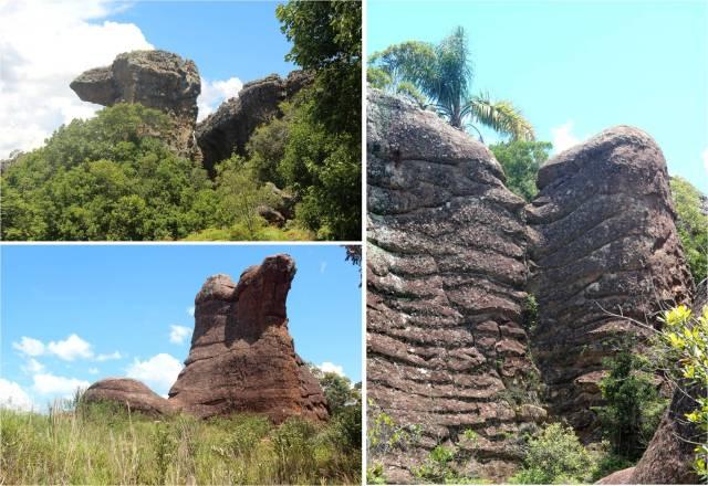Alguns formatos: Camelo (lado esq em cima), Bota (lado esq embaixo), Macacos Beijoqueiros (lado direito).