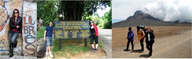 """Casacos mil utilidades! O vermelho usando para escalar o Kilimanjaro e na cidade para fazer """"camadas"""". Detalhe da calça preta que virava bermuda!"""