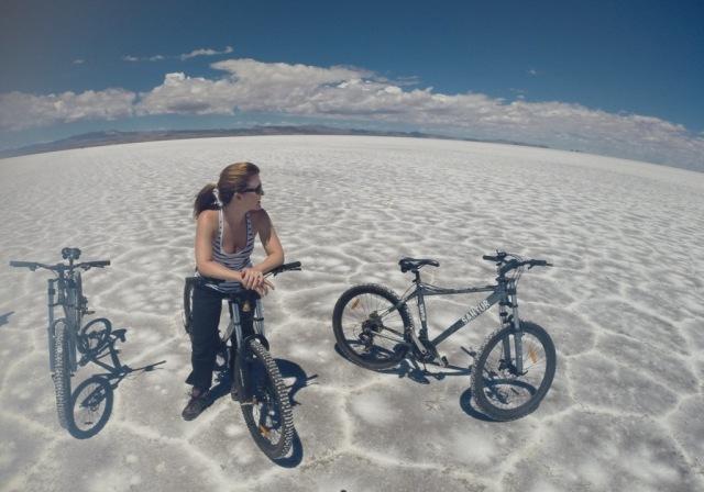 Andando de bicicleta no Salar!