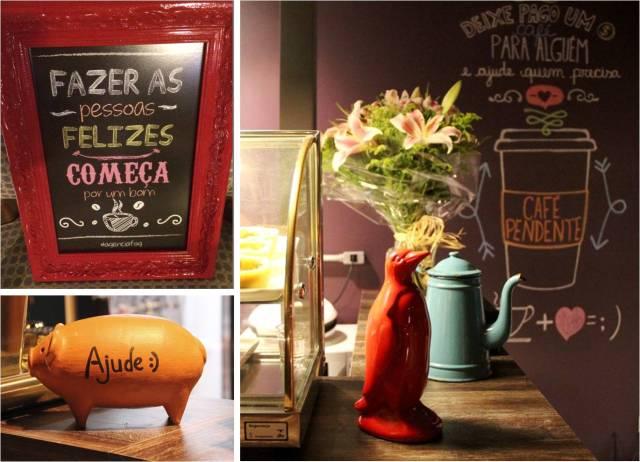 Detalhes fofos do Station Café em Curitiba