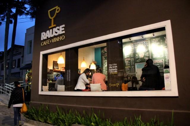 Fachada do Café Rause da Carlos de Carvalho
