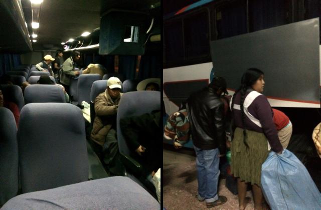 ônibus noturno/diurno da 6 de Octubre