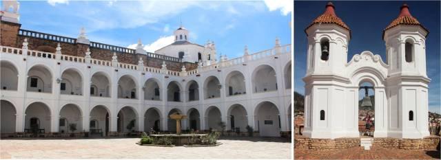 Oratório San Felipe Néri: pátio da escola e no telhado, pulando no sino!