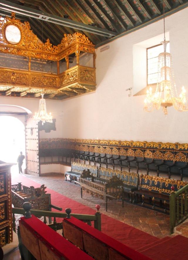 Nessa sala foi assinada a independência da Bolívia em 1825.