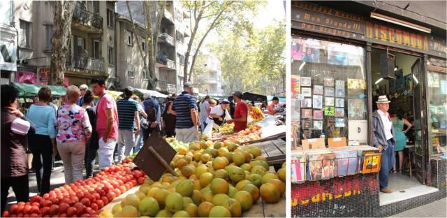 Feira Tristan Narvaja: frutas e legumes e lojas com discos e objetos antigos