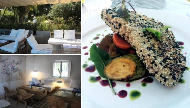 Ambientes do Charco Hotel & Bistrô e meu prato: atum selado!