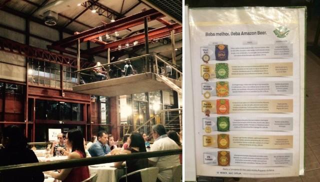 Banda suspensa na Estação das Docas e cardápio de cervejas da Amazon Beer