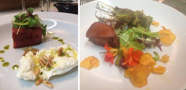 A salada que eu amei e o prato principal: javali!