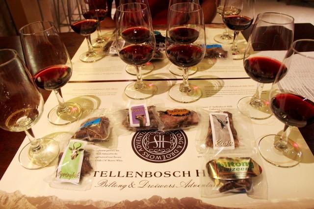 Harmonização de vinhos com biltongs! Sabor exótico!