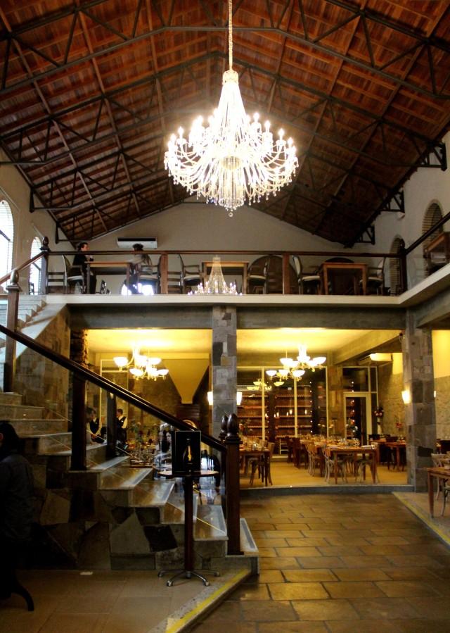 Salão para almoço da Casa Valduga