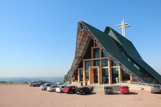 Santuário Nossa Senhora Madre de Deus. Vista 360 graus de POA.