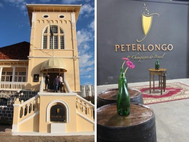 Fachada e interior da Peterlongo