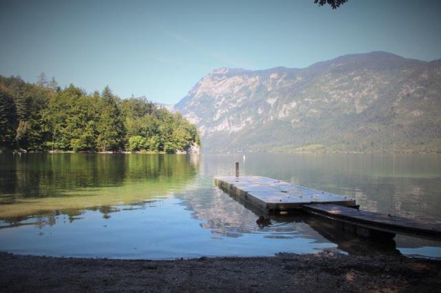 Lago Bohnij, lindo e ótimo para nadar