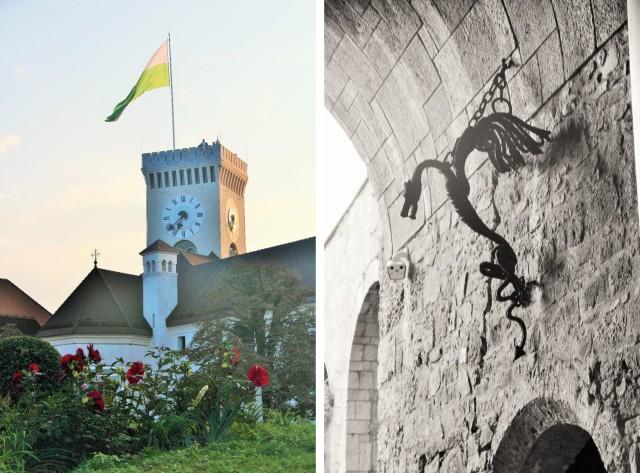 O castelo de Liubliana é uma graça e tem uma vista linda.