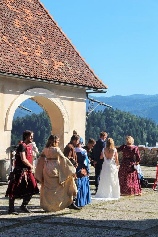 Casamento no castelo do lago de Bled