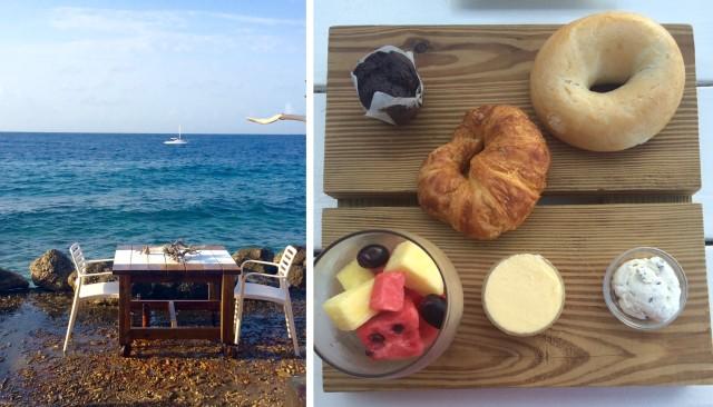 Olha esse lugar para tomar café-da-manhã em Curaçau! Hotel Bij Blauw.