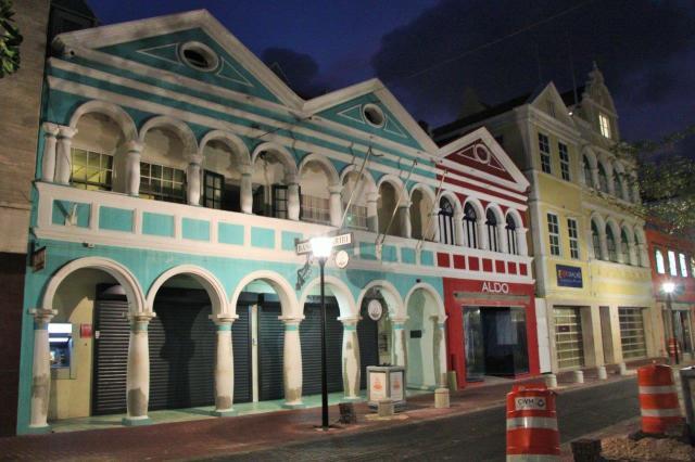 Centro histórico de Curaçau à noite